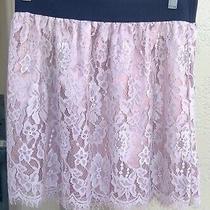 Shimmer Blush Whisker Eyelash Lace Skirt Size Medium Photo