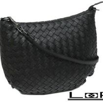 Shindo Bottega Veneta Shoulder Bag Intrecciato Leather Black Kuro A38245 Photo