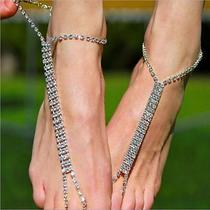 Shining Rjomestpmes Silver Anklets Barefoot-Sandals-Foot-Jewelry Beach Party New Photo
