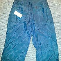 Shiny Black Silk Shorts Nicole Miller Trendy- Semi-Formal-Casual-Hip Medium Photo