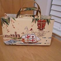Ships Birds Ocean Buildings Hobo Bag Handbag Nwot Unique Photo