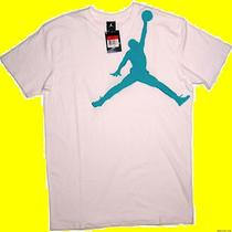 Shirt Nike Air Jordan Jumpman White Aqua Mens Xl New 373818 Tee Photo