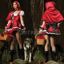 Sho Womens Fancy Party Costume Suit Little Red Riding Hood Cape & Dress J0008 Photo