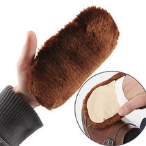 Shoe Boot Care Shining Buffing Brush Leather Soft Glove Polisher Cleaning Photo