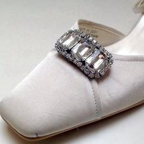 Shoe Clips   Wedding Bridal Evening Clear Crystal Tiffany Shoe Clips Jewellry Photo