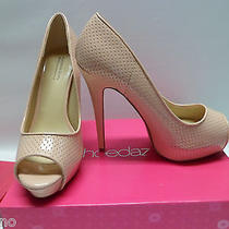 Shoedazzle Emma Platform Open Toe Pump Size 10 Blush - New Photo