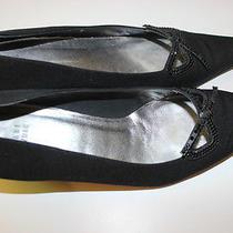 Shoes Stuart Weitzman Fabric Leather Size 9 Rhinestones Black Wedding Photo