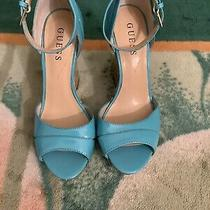 Shoes Women High Heels Guess Turquoise Greensize 6/12 Photo