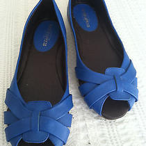 Shoes Women Mossimo Supply Co Blue Flats Cute Worn Once Photo