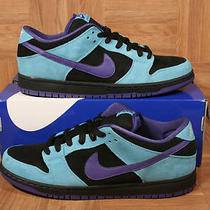 Shoezeum Aqua Black Purple Blue Concord Nike Dunk Low Pro Sb Shoes Size 11 Photo
