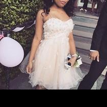 Short Blush Prom Dress Photo