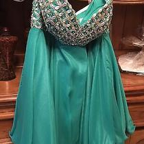 Short Emerald Green Baby Doll Dress by Blush Photo