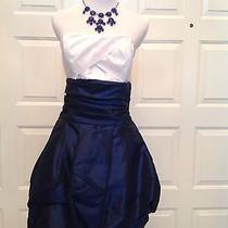 Short Formal Homecoming Dress  Jessica Mcclintock  11 Strapless Bubblehem  Photo