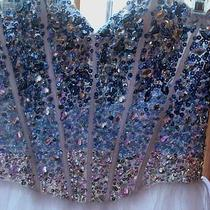 Short Formal Ombre Jeweled Dress From Blush Prom  Excellent Condition Sz 2 Photo