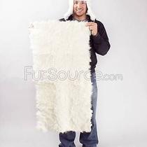Short Hair Fur Goat Plate - Natural White -Brand Frr Photo