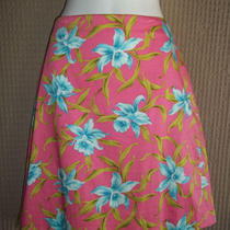 Short Pink Aqua Blue Green Summer Floral Jones New York Petite Skirt 8p 8 P Photo