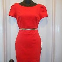 Short Sleeve Tulip Hem Red Bebe Dress Size Small New Photo