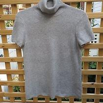 Short Sleeved Gray Cashmere Turtleneck Size M Magaschoni Photo