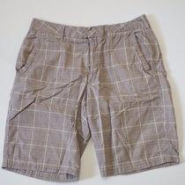 Shorts Beige Plaid Size 32 Express Photo