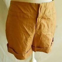 Shorts Nos High Waist  Linen Retro Baggy Safari  Roll Tab Linen  Nicole Miller Photo
