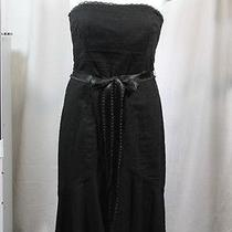 Shoshanna Black Cotton Corset Dress 4 Photo
