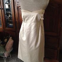 Shoshanna Elegant Holiday Gold Metallic Dress Photo