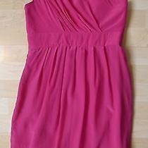Shoshanna One-Shoulder Silk Dress 6 New Other Photo