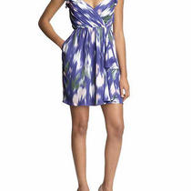 Shoshanna  Purple Lilac Watercolor Dress 4 Corset Stylesold Out Bcbg Guess Top Photo