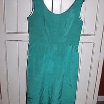 Shoshanna Sleeveless a-Line Wear to Work Dress 12 Teal Green  Photo