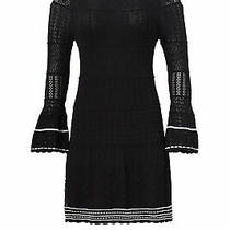 Shoshanna Women's Dress Black Size Small S Sweater Contrast-Stitch 395- 209 Photo