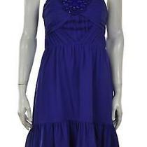 Shoshanna Womens Dress Size 4 Royal Blue Sheath Knee Length Sleeveless Silk Photo