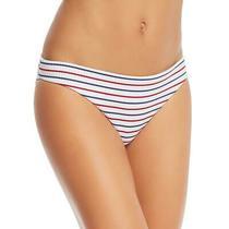 Shoshanna Womens White Striped Bikini Beach Swim Bottom Separates M Bhfo 9295 Photo