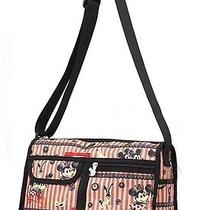 Shoulder Bag Mickey Minnie Mouse Looks Like Lesportsac L Polyester Pink Blue Photo