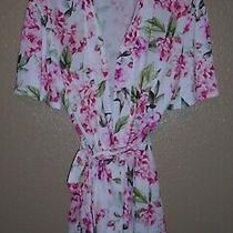 Show Me Your Mumu Brie Robe One Size Pink White Green Floral Kimono Garden Bloom Photo