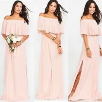Show Me Your Mumu Womens Hacienda Maxi Dress Sz Large Dusty Blush Crisp Photo