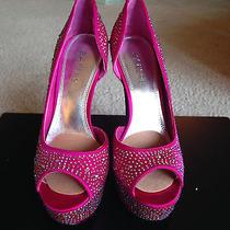 Showstopper Fushia  Swarovski Crystal Heels 7 1/2 Stripper/exotic Dancer Photo