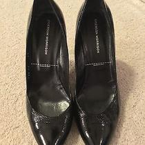 Sigerson Morrison Black Patent Vogue Nero Heels Size 38 / 8 Photo