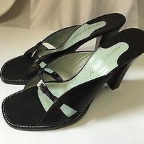 Sigerson Morrison Black Sandals Leather Strappy High Heels 9.5 Unique Rare (893) Photo