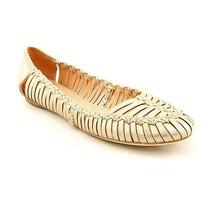 Sigerson Morrison Brian Womens Size 7 Beige Leather Flats Shoes Used Photo