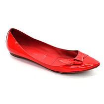 Sigerson Morrison Orange Patent Skimmer Ballet Flats Shoes Womens 6.5 M Italy Photo