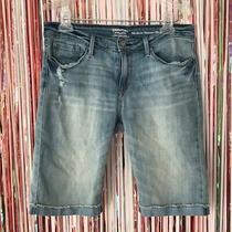 Signature by Levi Strauss Light Wash Denim Blue Jean Modern Skinny Shorts 8 / 29 Photo