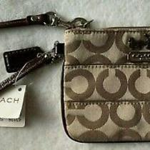 Signature Coach Wristlet New With Tags Khaki / Brown Photo