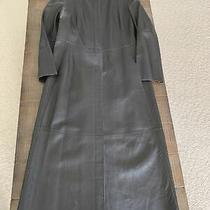 Signature Donna Karan New York Dkny Full Length Soft Lambskin Leather Coat Us Photo