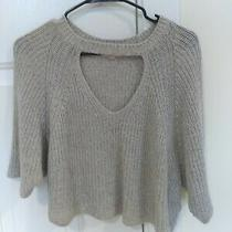 Silence and Noise by Urban Outfitters Cropped Cut-Out Gray Sweater Size S Photo