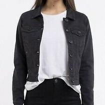 Silent Theory Bridgette Denim Jacket Black Size 8 Rrp 91  Photo