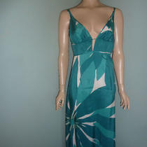 Silk Aqua Dress by Susana  Monaco Sz 6 Photo