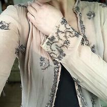 Silk Beaded Jacket Cardigan Photo