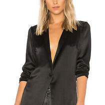 Silk Black Blazer Amanda Uprichard Sz Xs Photo