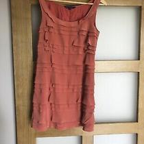 Silk Dress French Connection Uk6 Salmon/ Orange Photo