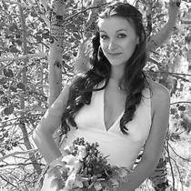 Silk Nicole Miller Wedding Dress Size 6  Photo
